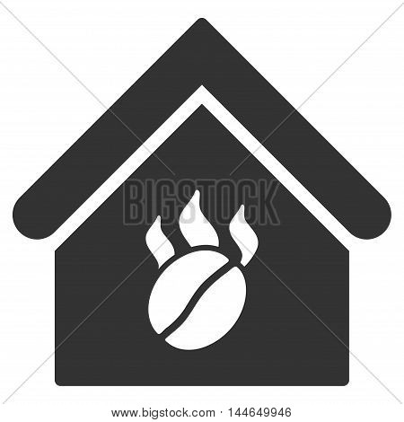 Coffee Shop icon. Glyph style is flat iconic symbol, gray color, white background.