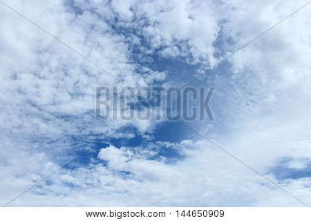 blue sky with cloud  beautiful nature : you may be used as background :