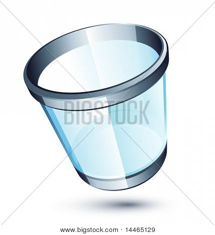 Transparent trash can