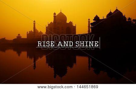 Rise Shine Startup Progress Sucess Concept