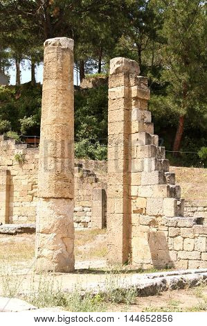 Ancient city of Kamiros on the island Rhodes Greece