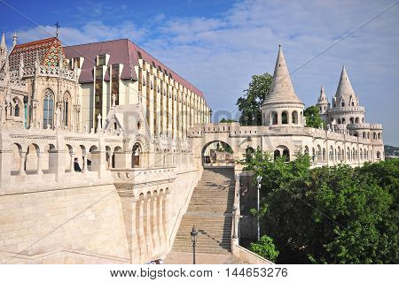 Architectural landmarks of Buda town Budapest Hungary