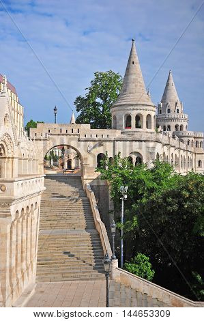 Vertical shot of Fisherman bastion in Buda town Hungary