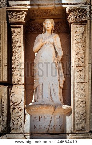 Ephesus, Apeth statue in Library of Celsus - Arete