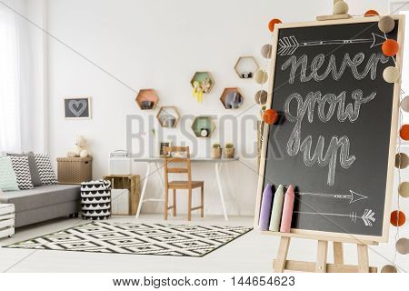 White Room With Study Space