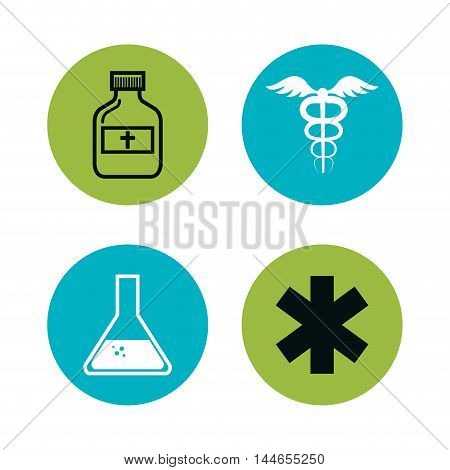 set medical care icons vector illustration design