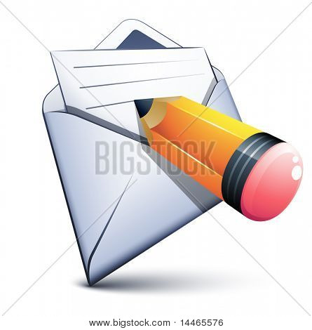 E-mail and a small pen