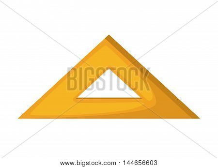 rule triangle school isolated icon vector illustration design