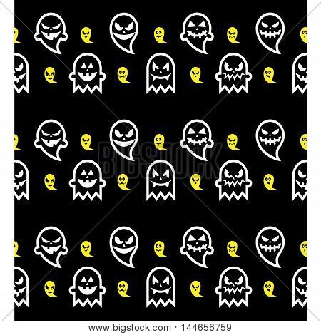 Seamless Halloween ghost pattern, background, gift paper