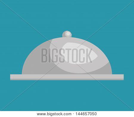 tray dish server silver icon vector illustration design