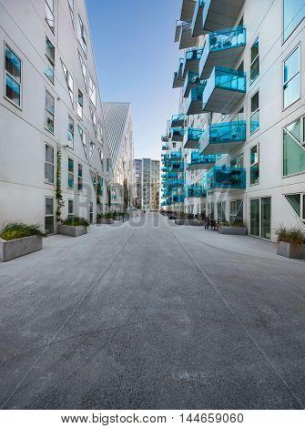 residential neighborhood at Aarhus in Denmark