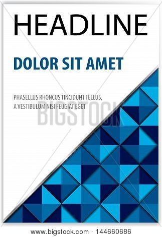 book cover presentation abstract geometric background report