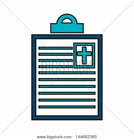 order medical clipboard isolated icon vector illustration design