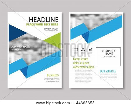 Annual Report Brochure Flyer Design Template Vector, Leaflet Cover Presentation Abstract Flat Backgr