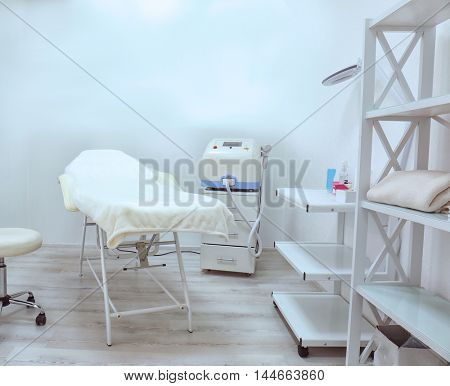 Room with equipment in a beauty salon