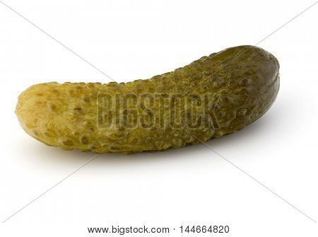 pickled or marinated  cucumber isolated on white background cutout