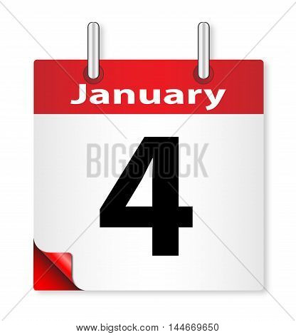 A calender date offering the 4th January