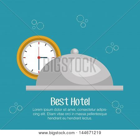 hotel bell isolated icon vector illustration design