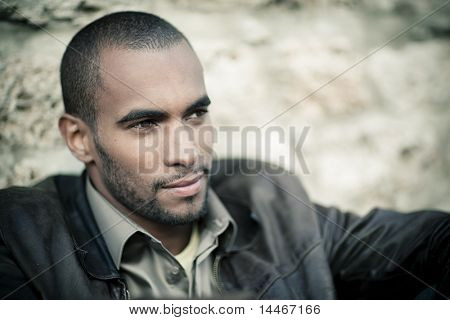 young black man portrait