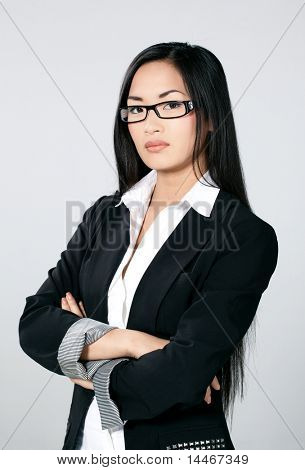 asian business girl with glasses
