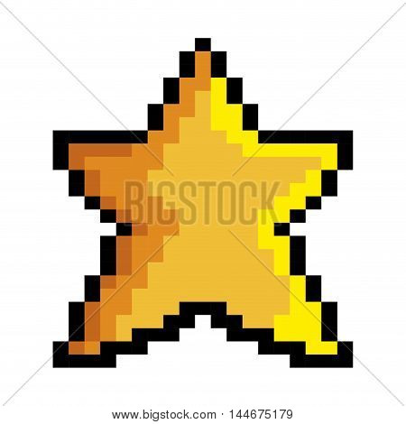 star game pixel figure isolated icon vector illustration design