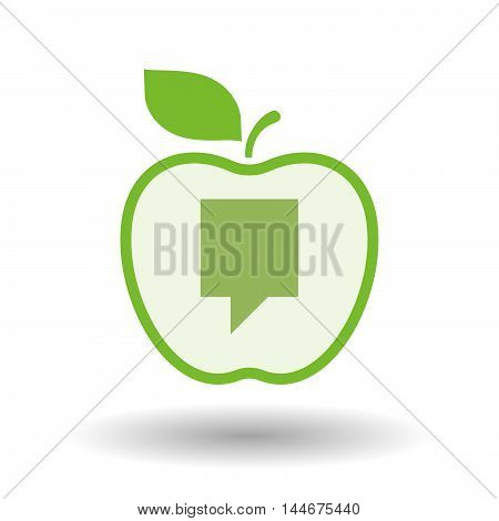 Isolated  Line Art Apple Icon With A Tooltip
