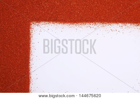chili powder form a L shape