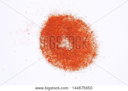 round shape of chili powder