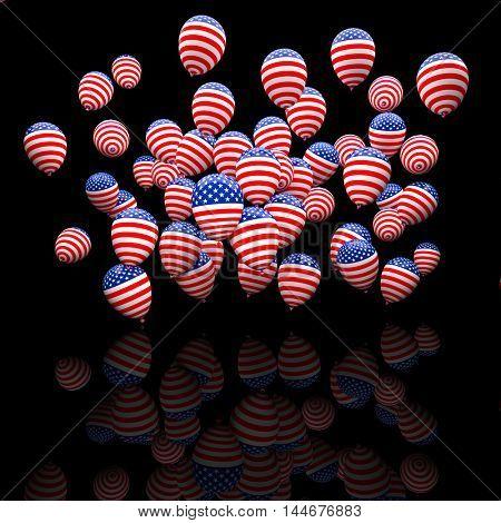 usa election balloon 3d image