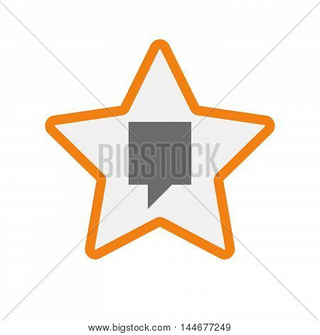 Isolated  Line Art Star Icon With A Tooltip
