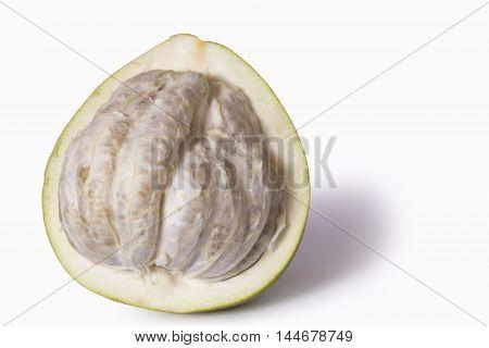 Fresh pomelo isolated on the white background
