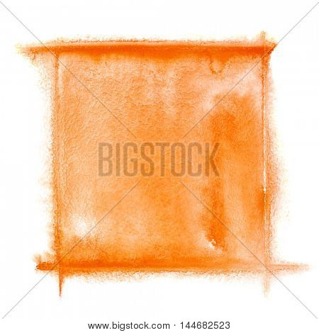 Orange watercolor frame - space for your own text