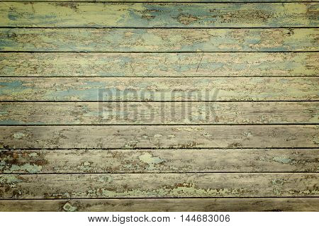 Grunge weathered wooden wall texture background horizontal
