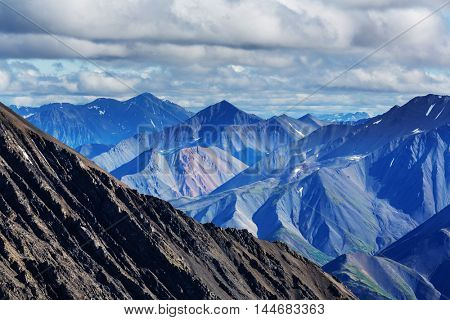 Mountains of Alaska in summer