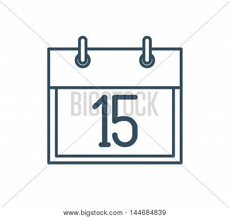 calendar reminder isolated icon vector illustration design