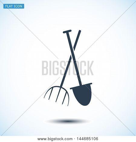 Garden Fork, Garden Shovel Icon