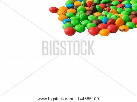 Close-up of a lot of multi-colored candy