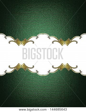 Abstract Green Background With Place For Text. Template For Design. Copy Space For Ad Brochure Or An