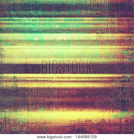 Grunge abstract textured background, aged backdrop with different color patterns: green; red (orange); purple (violet); yellow (beige); cyan; pink