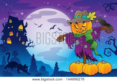 Halloween scarecrow theme image 5 - eps10 vector illustration.