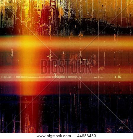 Stylish grunge texture, old damaged background. With different color patterns: blue; red (orange); yellow (beige); brown; black; pink