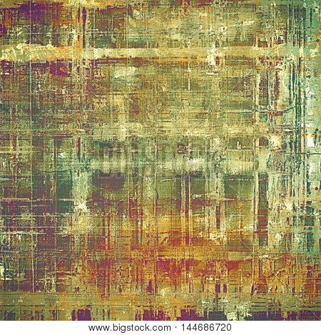 Vintage decorative background, antique grunge texture with different color patterns: green; red (orange); purple (violet); yellow (beige); brown; pink