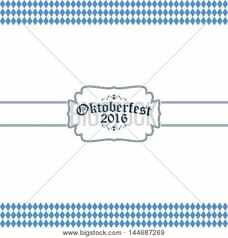 Oktoberfest Banner With Text Oktoberfest 2016