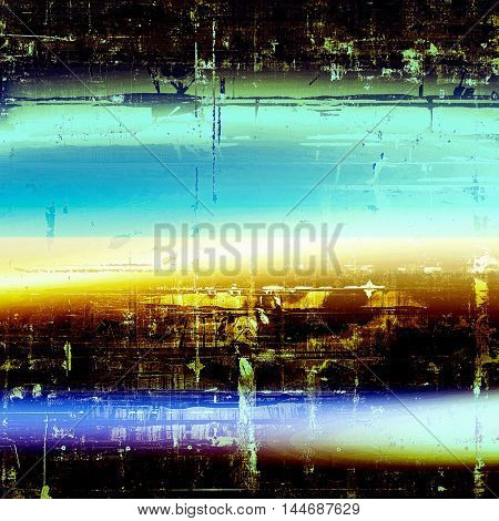 Grunge texture, scratched surface or vintage background. With different color patterns: green; blue; yellow (beige); white; cyan; black