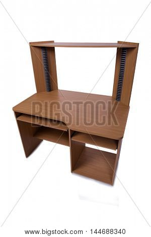 Computer home desk isolated on the white background
