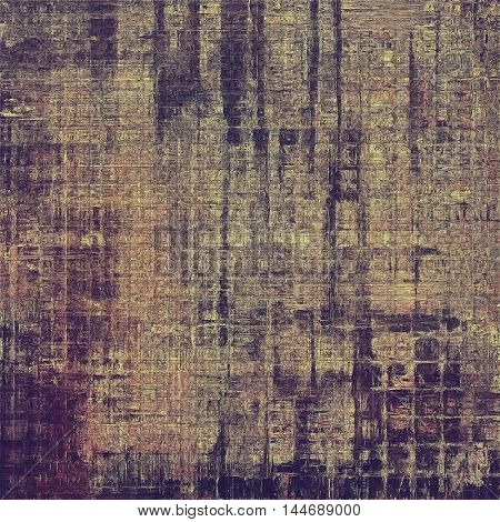 Retro abstract background, vintage grunge texture with different color patterns: gray; purple (violet); yellow (beige); brown; pink