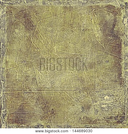 Creative vintage surface texture, close up grunge background composition. With different color patterns: gray; green; yellow (beige); brown