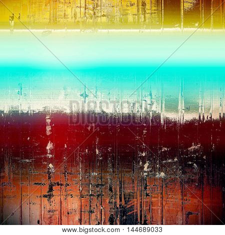 Vintage background, antique grunge backdrop or scratched texture with different color patterns: blue; red (orange); yellow (beige); brown; white; pink