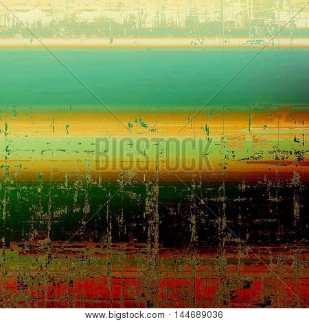Abstract retro design composition. Stylish grunge background or texture with different color patterns: green; blue; red (orange); yellow (beige); brown; black