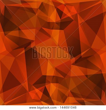 Polygonal abstract background with brown and orange triangles.
